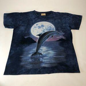 The Mountain Tee Vintage Majestic Dolphin Print